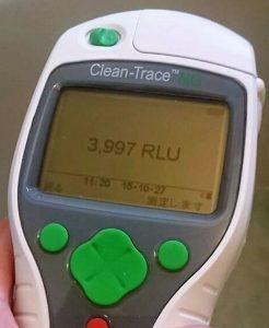 ATP測定、洗浄前3997個