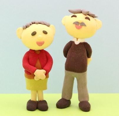 老夫婦の人形の写真