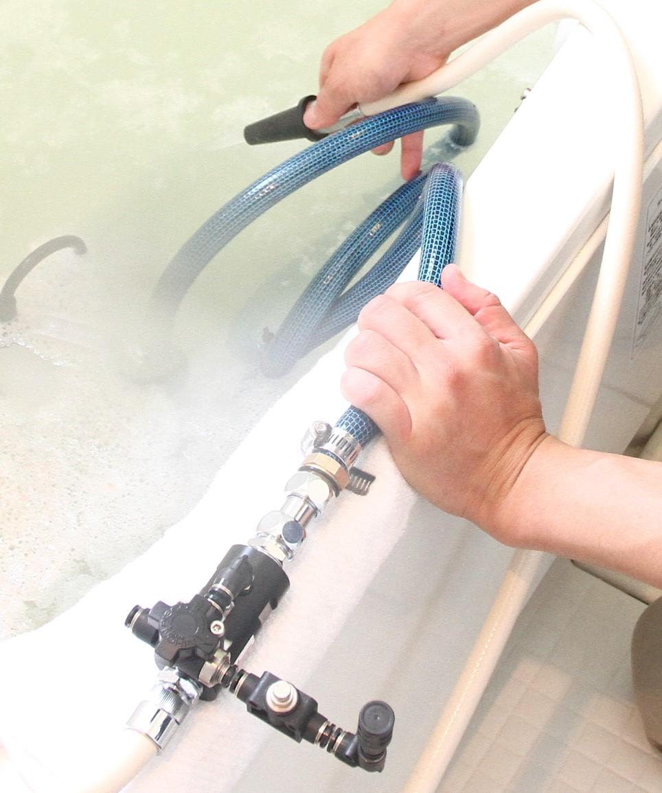 風呂釜洗浄PROのマイクロバブル発生装置
