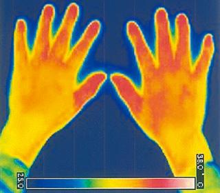 ピュアブルⅡでの手の温度