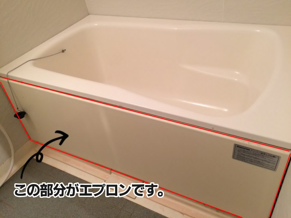 浴槽エプロンの説明